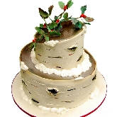Snowy Birch Tree Cake