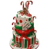 Gingerbread & Candyland Christmas Cake