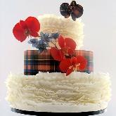 Tartan Ruffle Cake