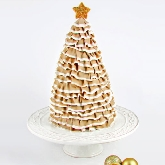 Ruffled Christmas Tree Cake