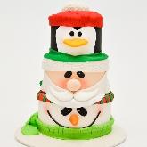 Santa. Penguin. Snowman