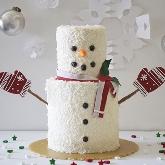 DIY Snowman Cake