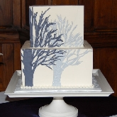 Glittering Winter Tree Cake