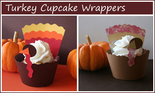 Turkey Cupcake Wrappers