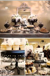 Black and White Dessert Bar