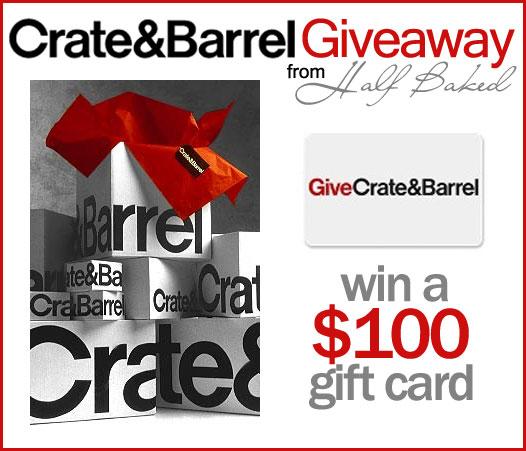 Crate & Barrel Giveaway