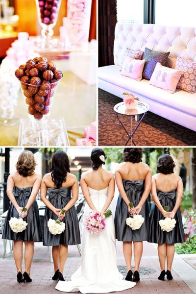 Real Wedding: A Grey & Pink Love Affair