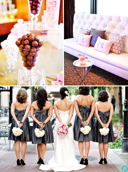 Grey & Pink Wedding