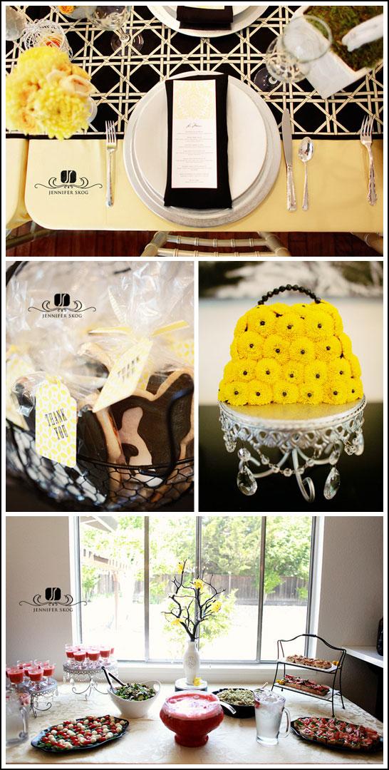 Black & Yellow Baby Shower
