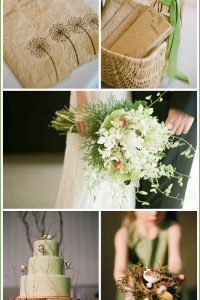 Real Party: Chocolate Brown & Green Wedding