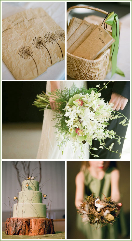 Real Party Brown Amp Green Wedding The Cake Blog