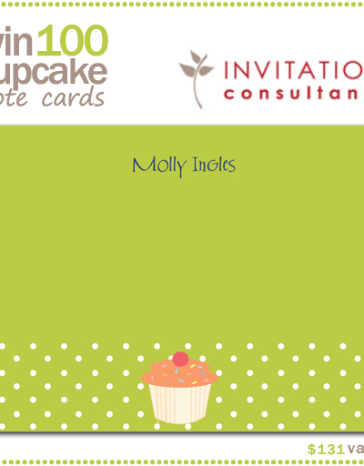 Giveaway: Cupcake Note Cards