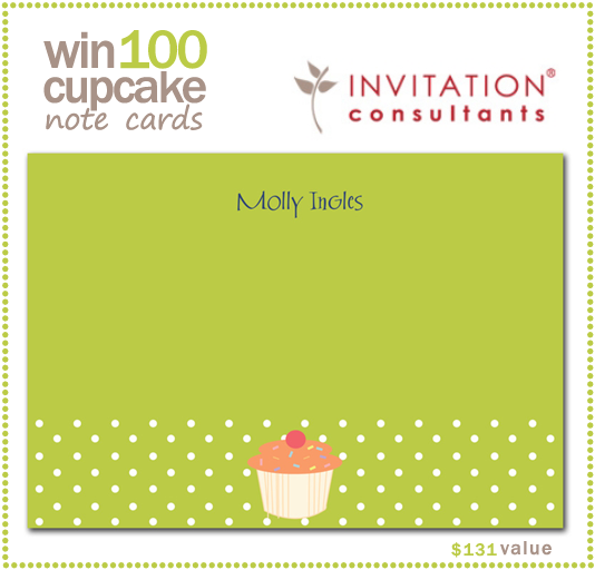Cupcake Note Card Giveaway