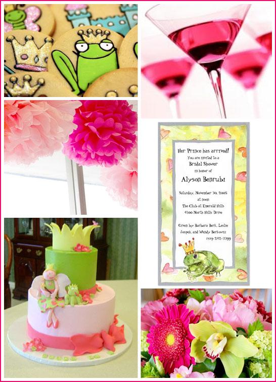 inspiration board frog prince bridal shower