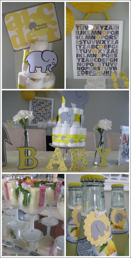 yellow gray baby shower themes decoration ideas pictures to pin on