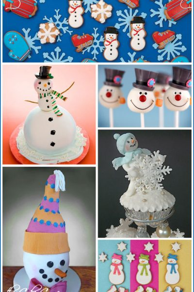 Snowman Inspired Cakes