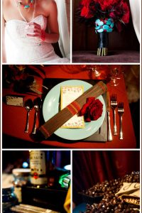 Real Party: Turquoise & Red Wedding
