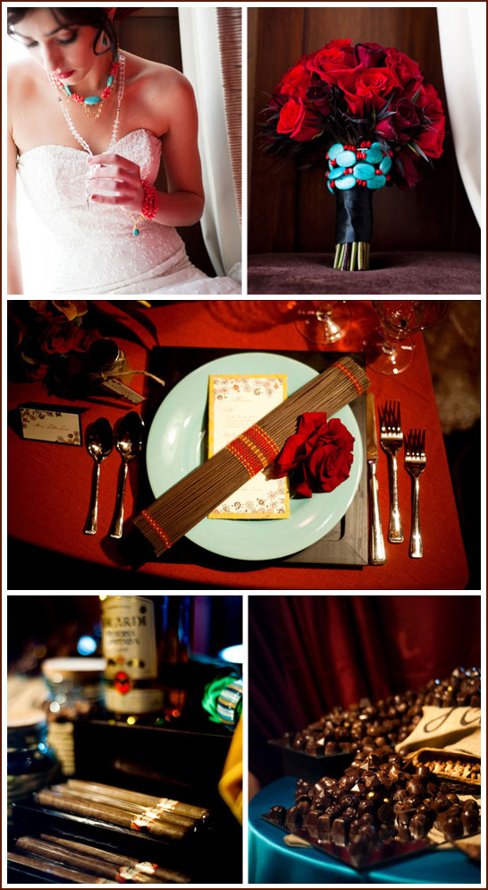 Turquoise & Red Wedding