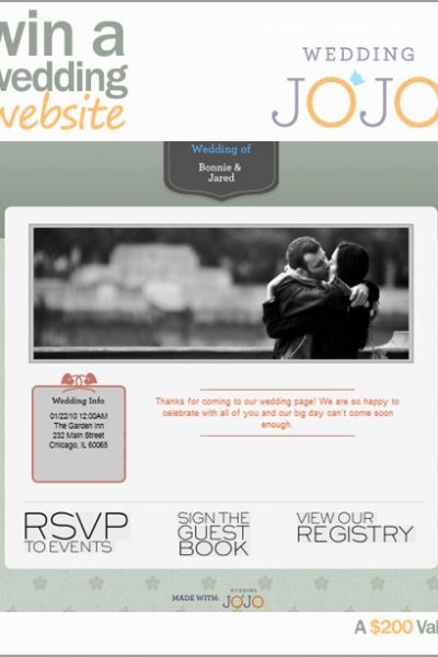 Giveaway: A Fabulous Wedding Website!