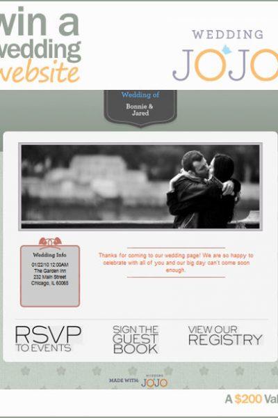 Giveaway: A Fabulous Wedding Website!