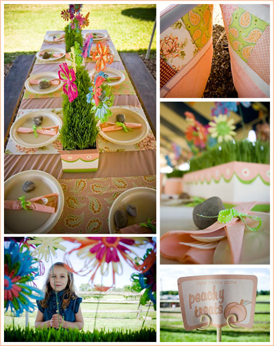 Peaches and Cream Birthday Party