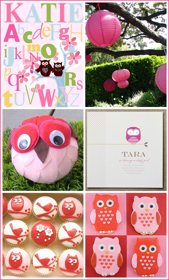 inspiration board owl baby shower owl baby shower ideas 546x903