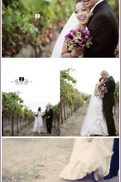 Real Party: Purple & Black Wedding