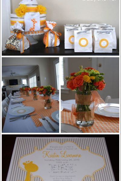 Real Party: Giraffe Baby Shower