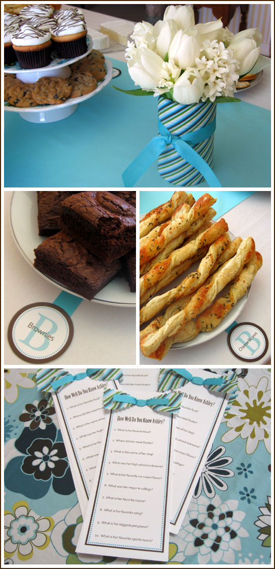 Tiffany Blue and Brown Bridal Shower We played two shower games including