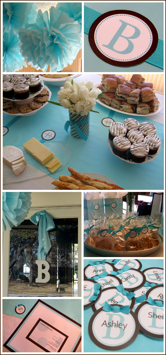 Tiffany Blue and Brown Bridal Shower