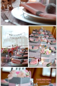 Grey & Pink Safari Baby Shower