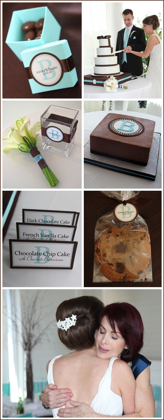 Tiffany Blue and Chocolate Brown Wedding Everything was simply beautiful