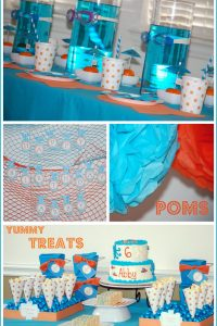 Under the Sea Party in Turquoise and Orange