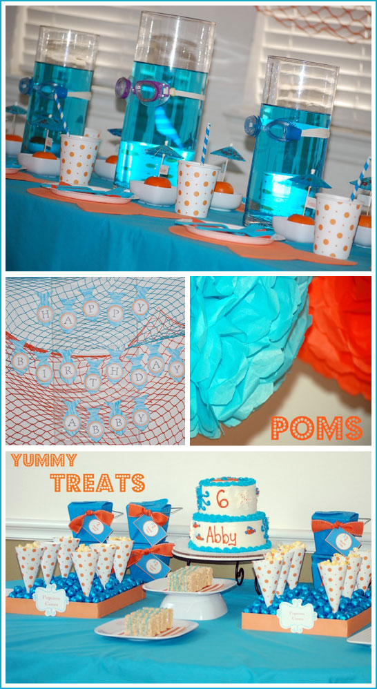 Under the Sea Party in Turquoise & Orange