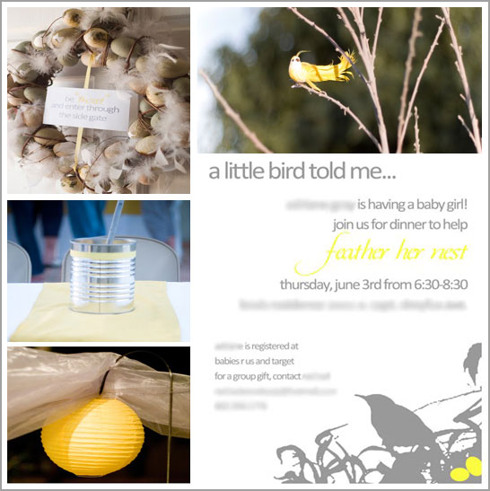 Bird and Feather Baby Shower