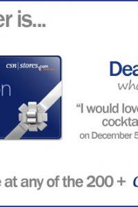 CSN Stores Giveaway Winner
