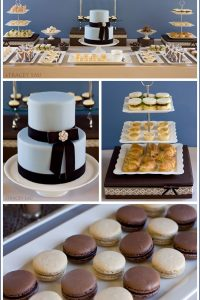 Elegant Tea Party in Blue & Brown
