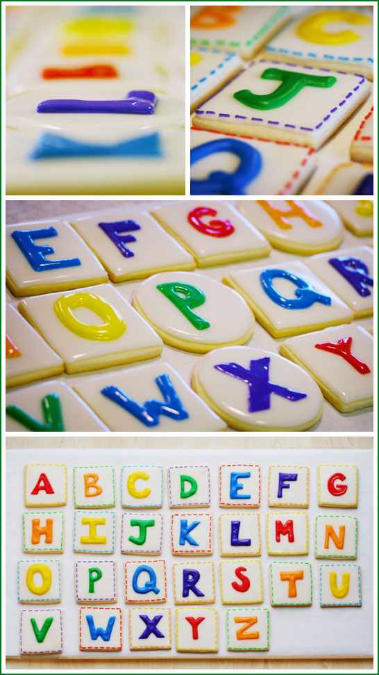 Back to School Alphabet Cookies