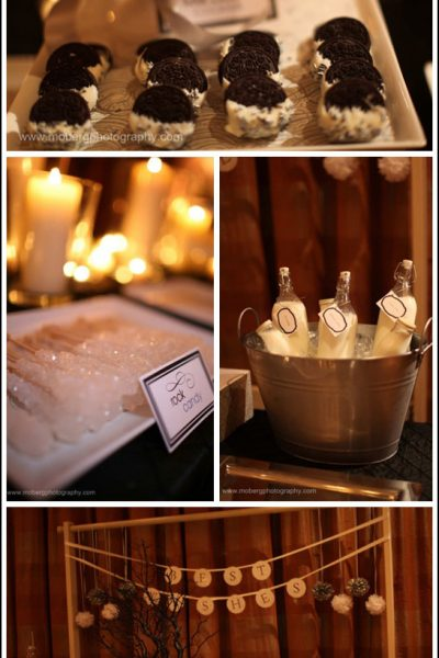 Real Party: Black, Silver & White Wedding