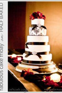 Black & White Damask Cake
