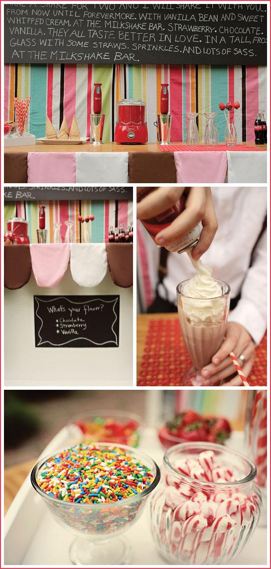 Make Your Own Milkshake Party