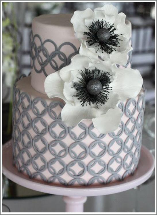 Modern Grey Wedding Cake