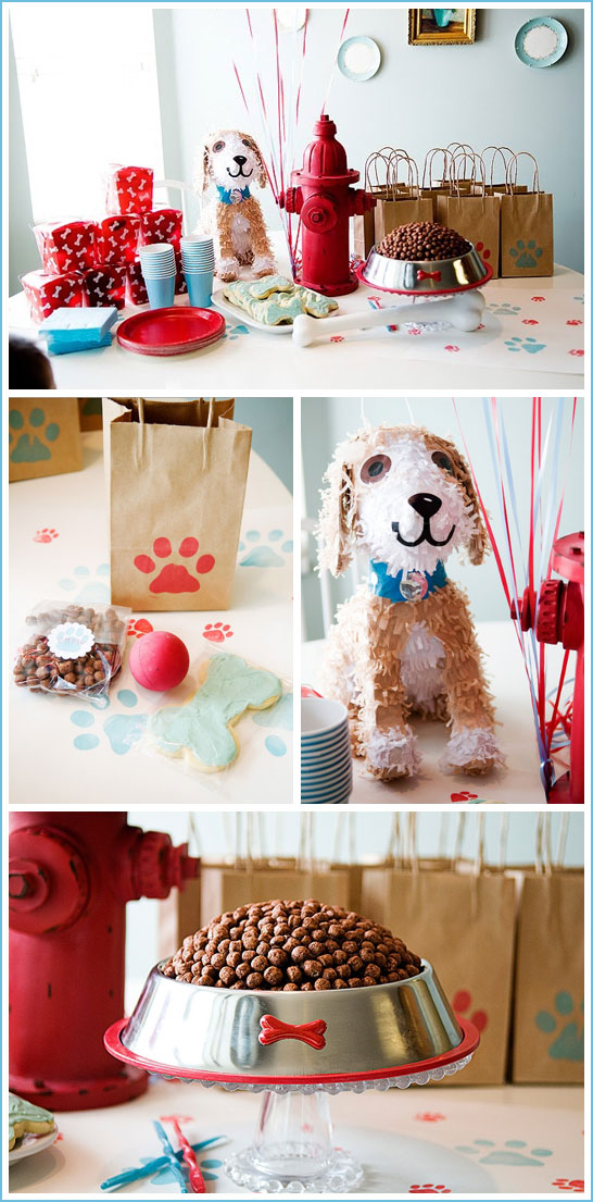 Puppy Dog Birthday Party in Red & Blue