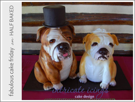 3D Bulldog Cake by Intricate Icings