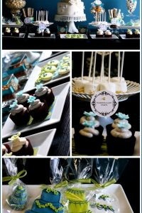 Bridal Dessert Table in Shades of Blue