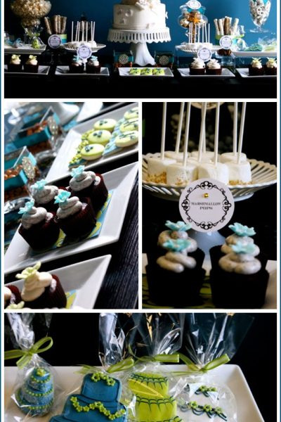 Real Party: Bridal Dessert Table
