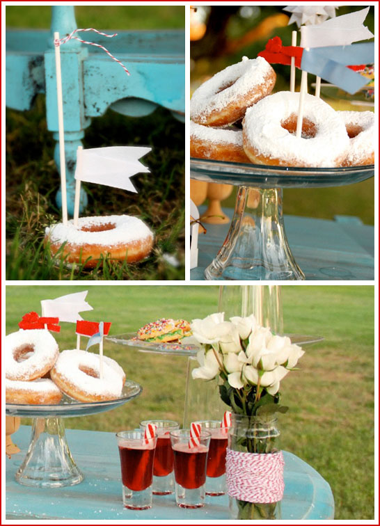 Donut Flags for Dessert Table