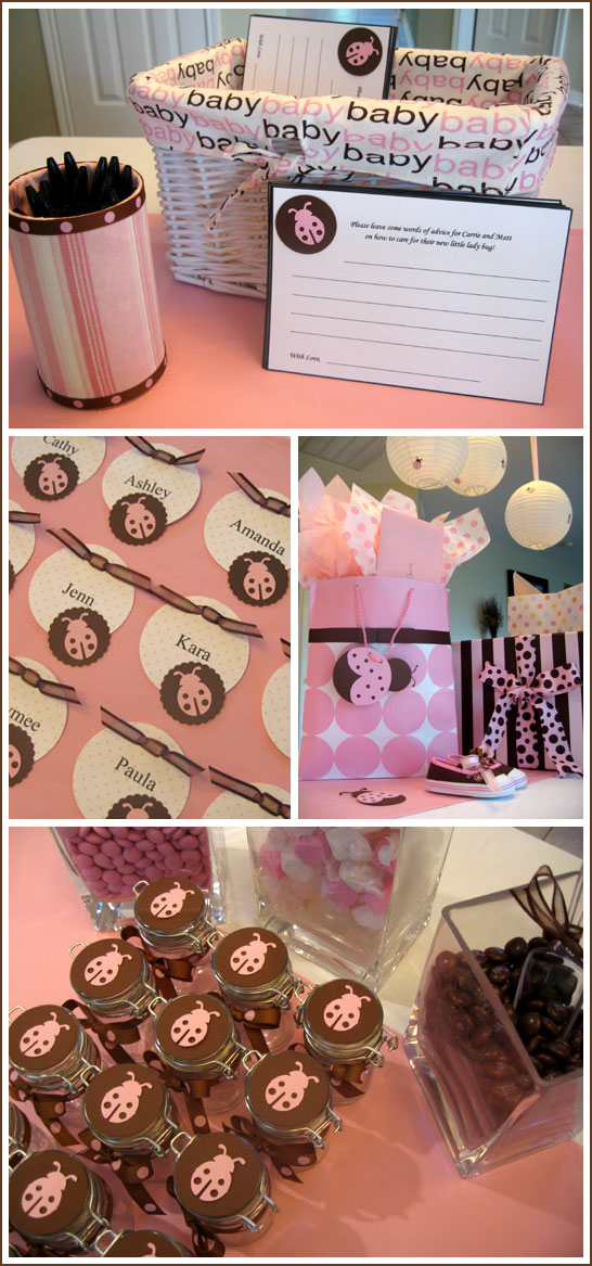 Ladybug Baby Shower in Pink & Brown