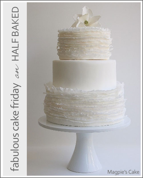 White Ruffles by Magpie's Cake