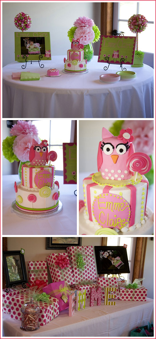 Superb Real Party Owls Lollipops The Cake Blog Birthday Cards Printable Nowaargucafe Filternl